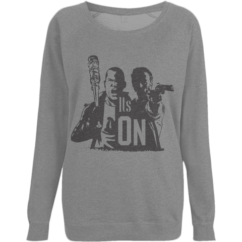 The Walking Dead Rick vs Negan - EP66 Women's Raglan Sweatshirt - Movie TV Show Merch