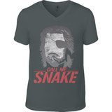 Escape from New York - Snake Plissken - Anvil Fashion V Neck T-Shirt - Movie TV Show Merch