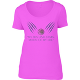 Game of Thrones - Moon of my Life - Anvil Ladies Sheer Scoop Neck T-Shirt - Movie TV Show Merch