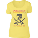 The Goonies Never Say Die T-Shirt - Anvil Ladies Sheer Scoop Neck T-Shirt - Movie TV Show Merch