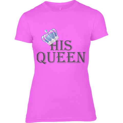 For Her Bl Queen - Anvil Ladies Fashion Fitted T-Shirt - Movie TV Show Merch