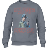 Stranger Things - Mornings are for - Anvil Sweatshirt - Movie TV Show Merch