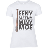 The Walking Dead Miny Moe Lucille - Anvil Ladies Fashion Fitted T-Shirt - Movie TV Show Merch