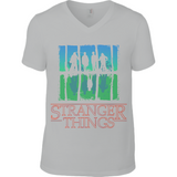 Stranger Things Upside Down - Anvil V Neck T-Shirt - Movie TV Show Merch