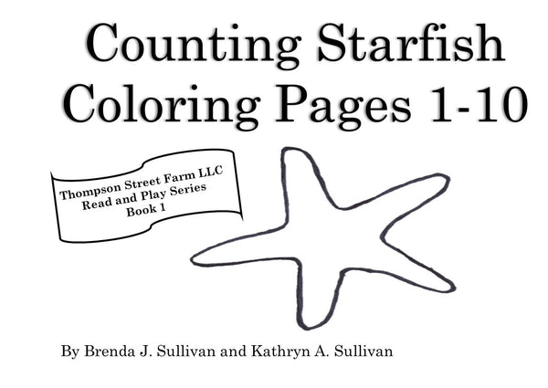 Counting Starfish Coloring Book - Thompson Street Farm LLC, microgreens,