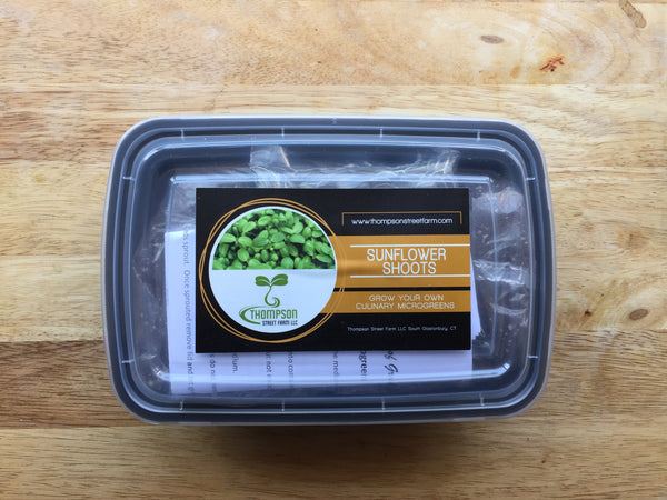 Culinary Microgreen Grow Kit - Sunflower Shoots - Thompson Street Farm LLC, microgreens,