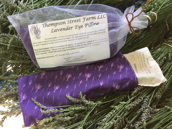 Lavender Hot or Cold Eye Pillows - Thompson Street Farm LLC, microgreens,
