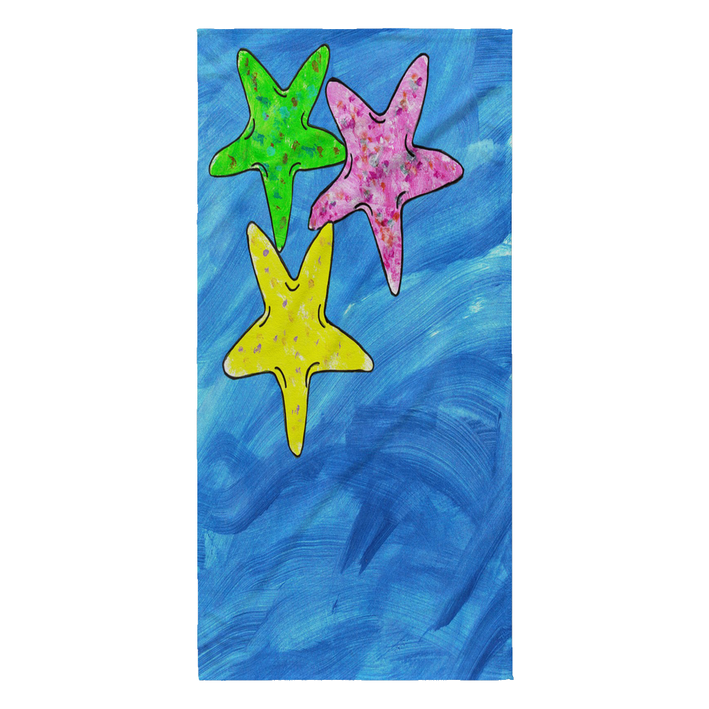 Starfish Beach Towel - Thompson Street Farm LLC, microgreens,