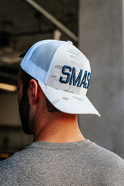 Multicam White/Navy SMASH Trucker
