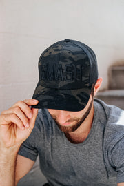 SMASH Multicam Black Trucker