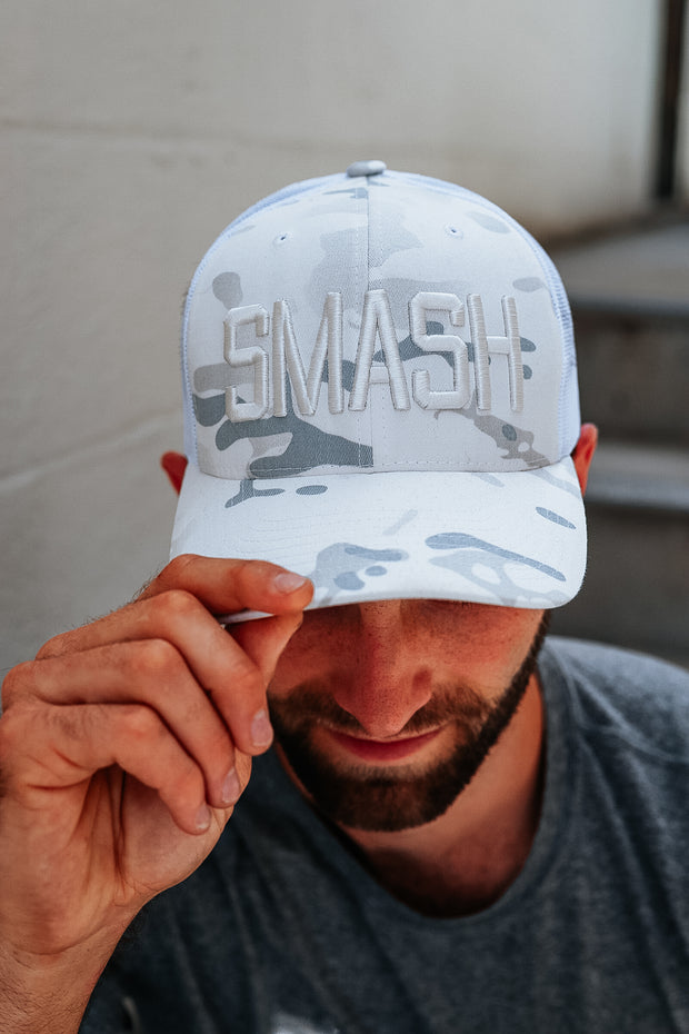 Multicam White SMASH Trucker