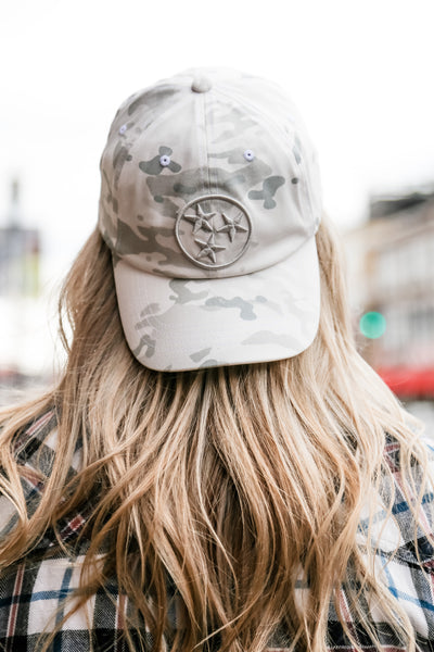 Multicam White Tri-Star Ball Cap
