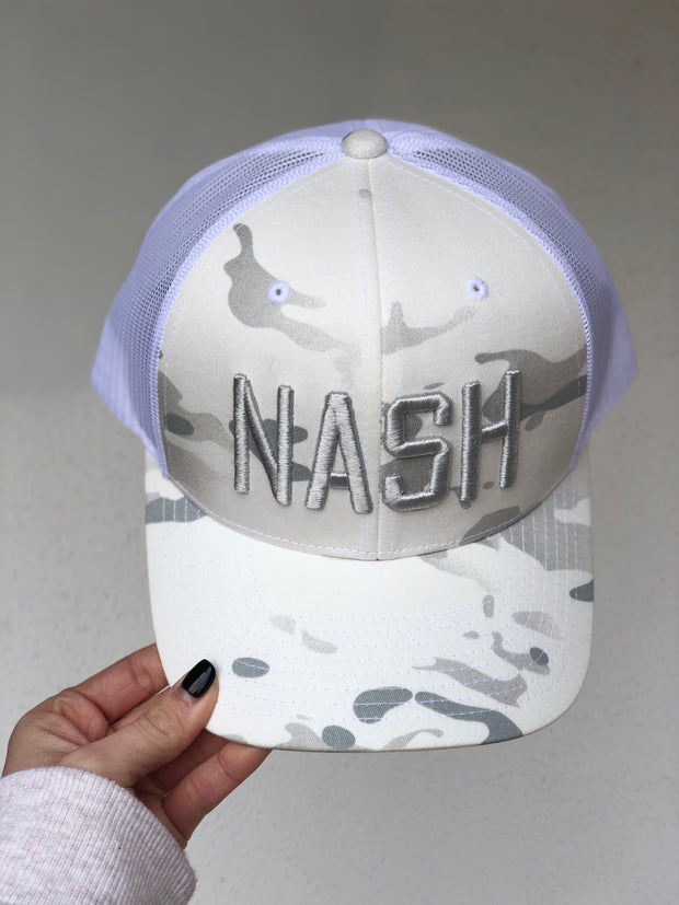 Nash Multicam White Trucker