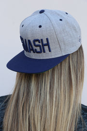 Two-Tone Heather/Navy SMASH Flat Bill