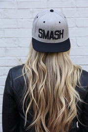 Two-Tone Heather/Black SMASH Flat Bill