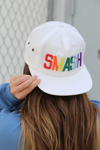 Pride SMASH Flat Bill [White]