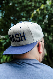 Two-Tone Heather/Navy NASH Flat Bill