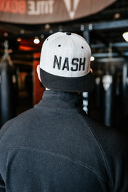 Two-Tone Heather/Black NASH Classic Flat Bill