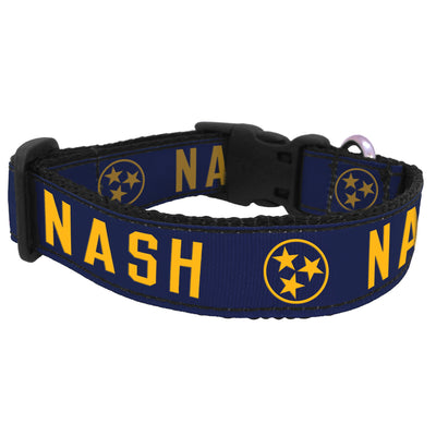 NASH Dog Collar [Navy/Gold]