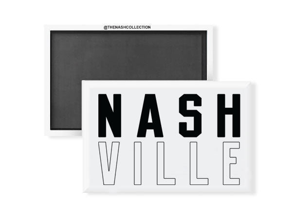 Stacked NASH VILLE Magnet