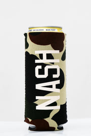 Camo Slim Can Cooler