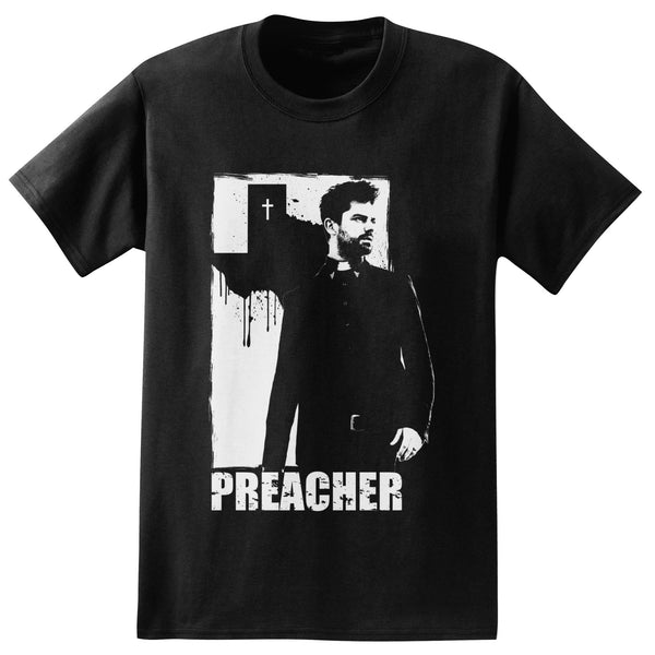 Preacher TV Series Jesse Custer Adult Black T-Shirt