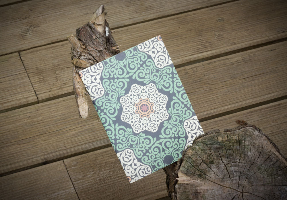Notebook with decorative pattern to highlight gifts for stationery addicts collection at Pomegranate Living