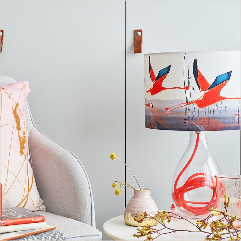 Anna Jacobs Breaking Dawn in Orange Medium Table Lamp at Pomegranate Living
