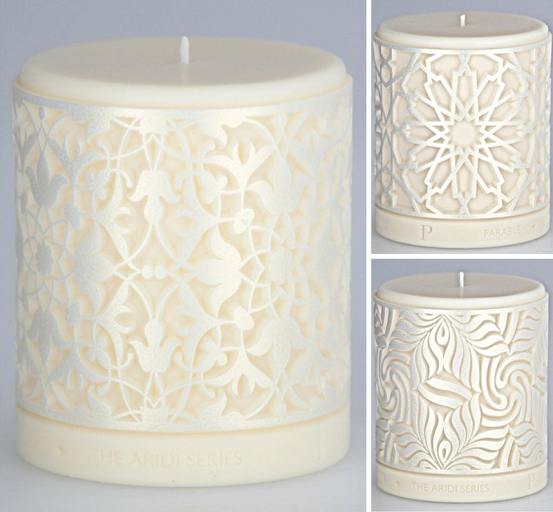 Parable Designs Oasis Candle with White Gold finish