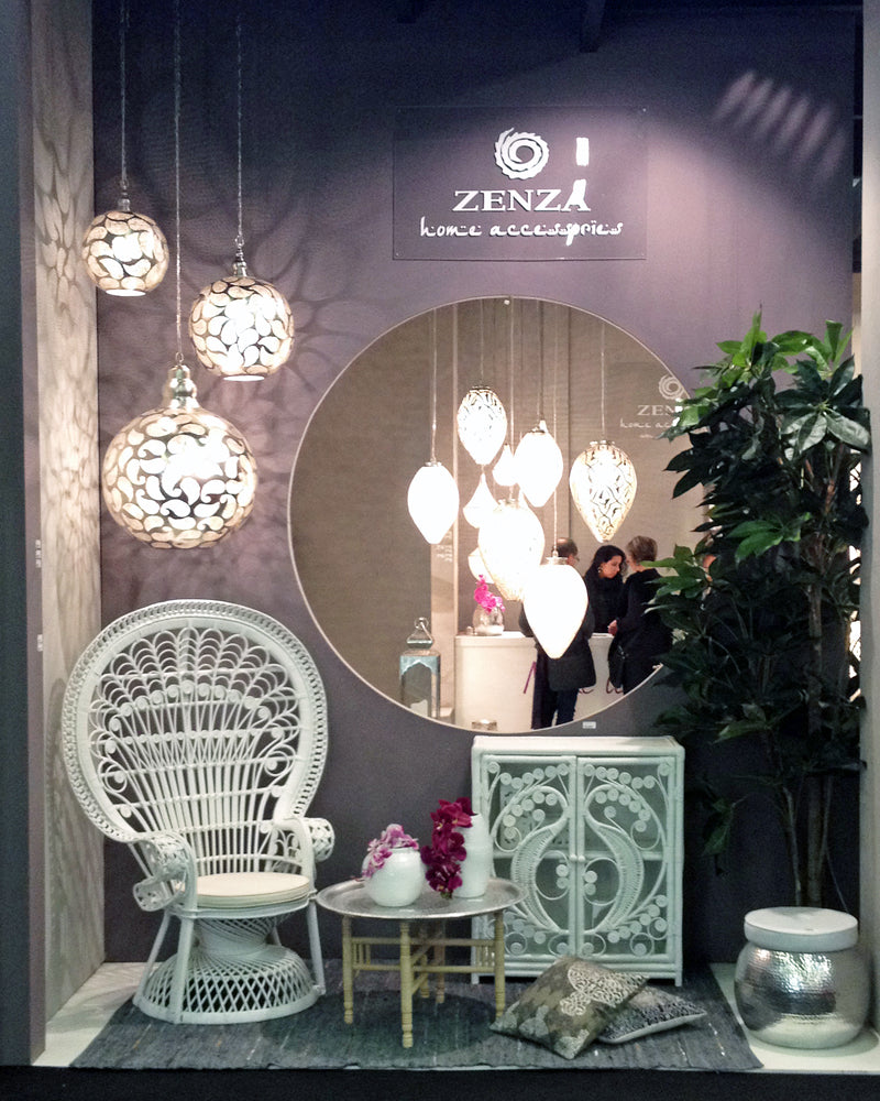 Front of the Zenza stand at the Maison & Objet exhibition Paris 2013