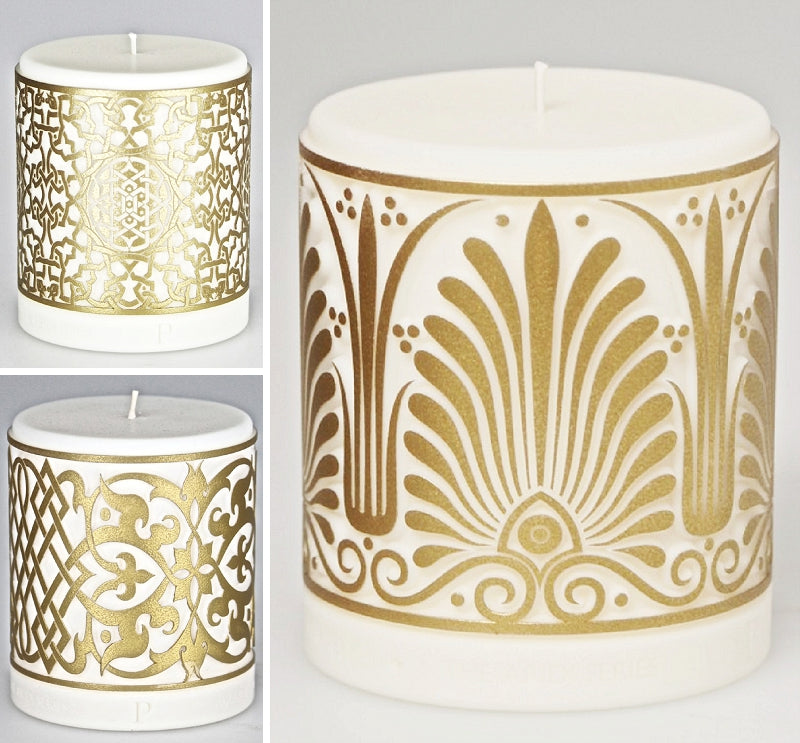 Aridi Series Candles by Parable Designs in Old Gold Finish
