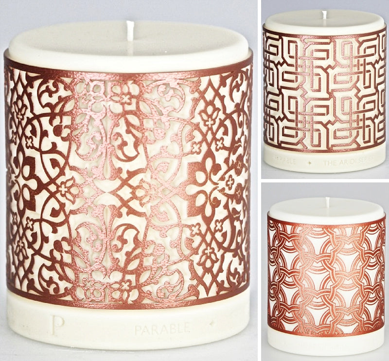 Aridi Series Candles in Copper Finish by Parable Designs
