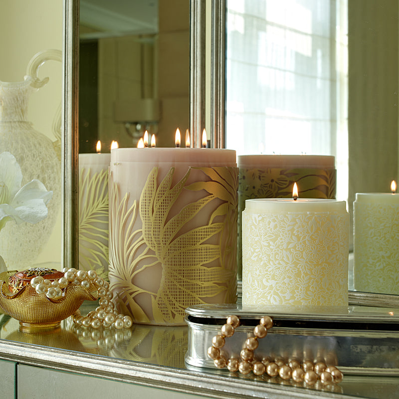 Lifestyle image of two candles by Parable Designs