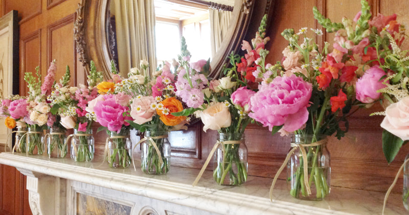Small Vases by The Velvet Daisy Along a mantel