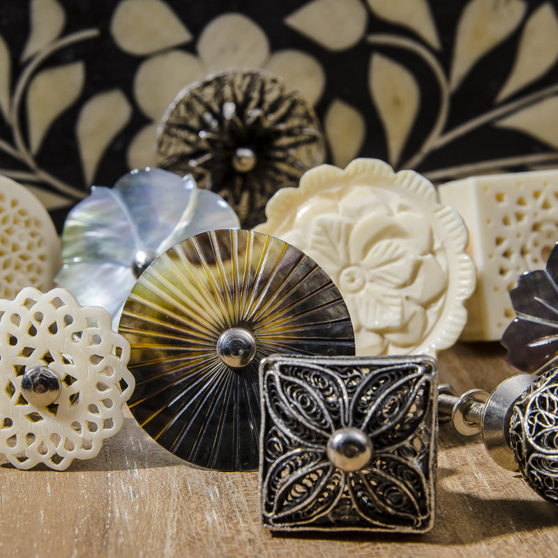 Decorative handles and knobs by Zenza