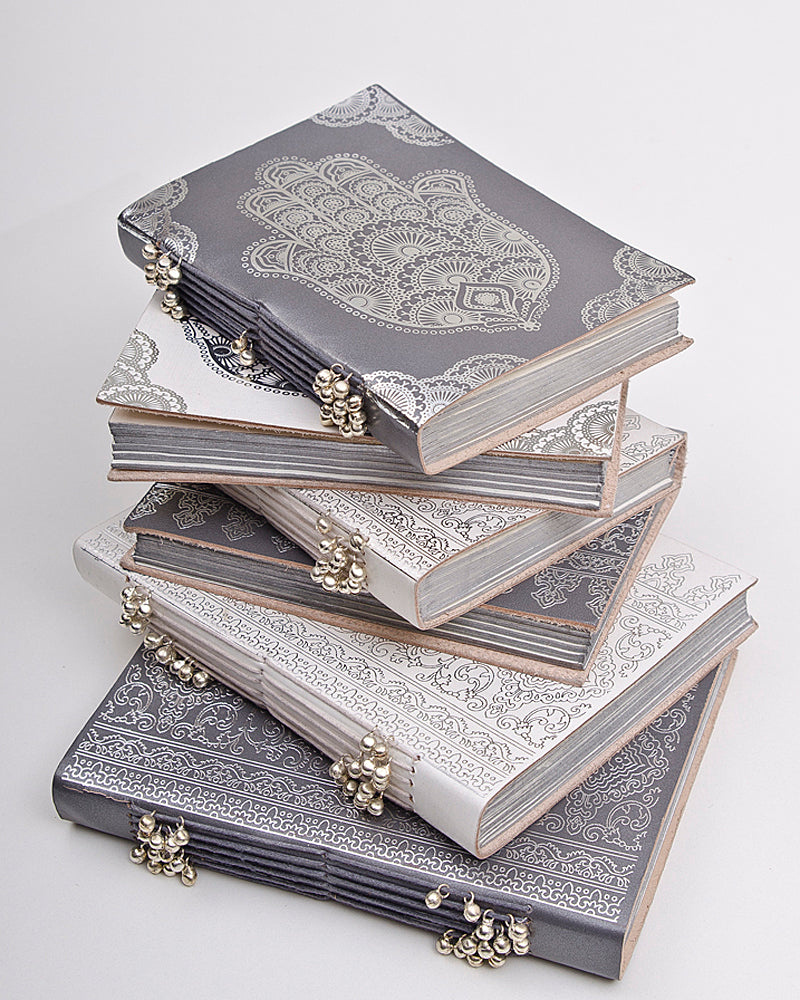 Zenza also make leatherbound notebooks with fun patterns printed on their covers