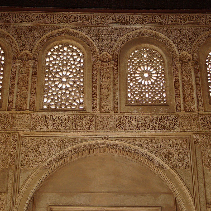Detail of a window in the Alhambra