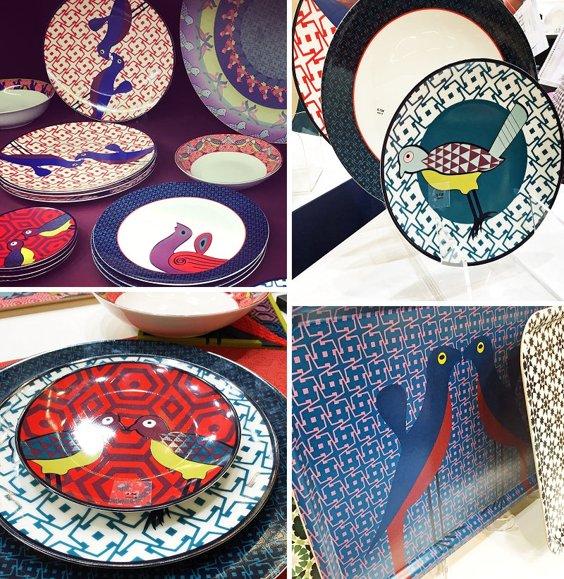 The Birds of Paradise Collection of Tableware by Image d'Orient on their Stand at Maison & Objet