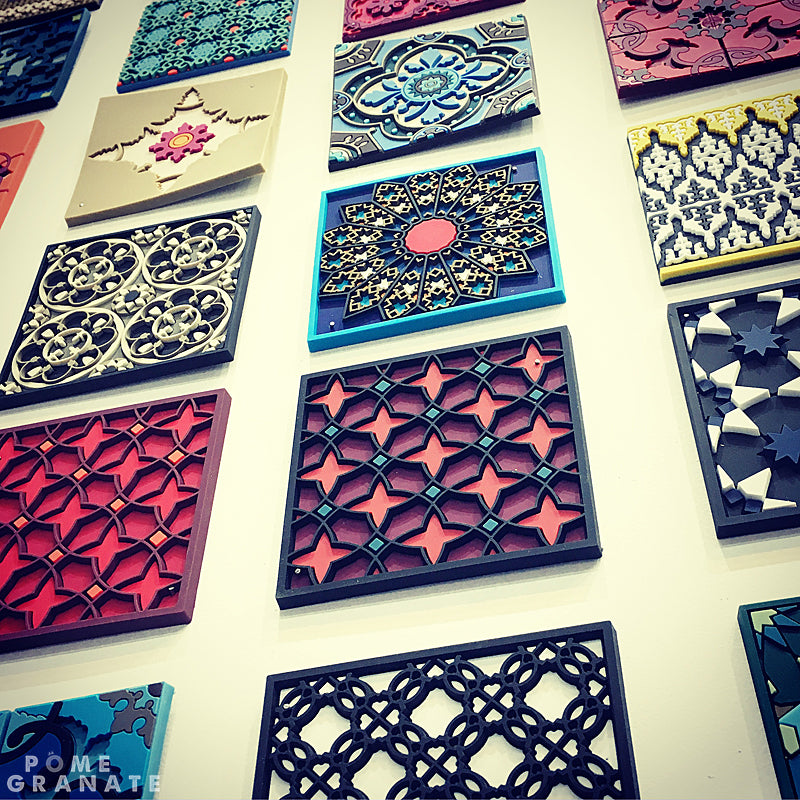 Wall of Coasters on the Images d'Orient stand at Maison & Objet