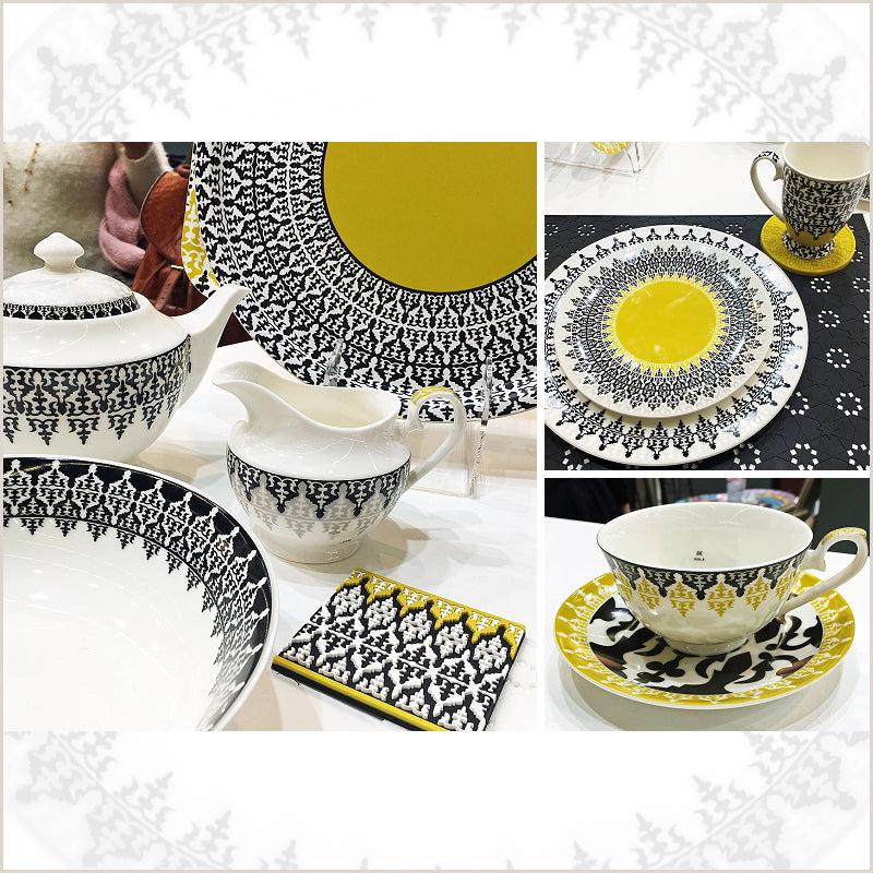 The Safra Collection of Tableware by Images d'Orient on their Stand at Maison & Objet