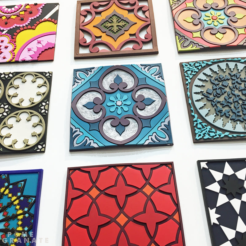 Wall of Trivets on the Images d'Orient Stand at Maison & Objet