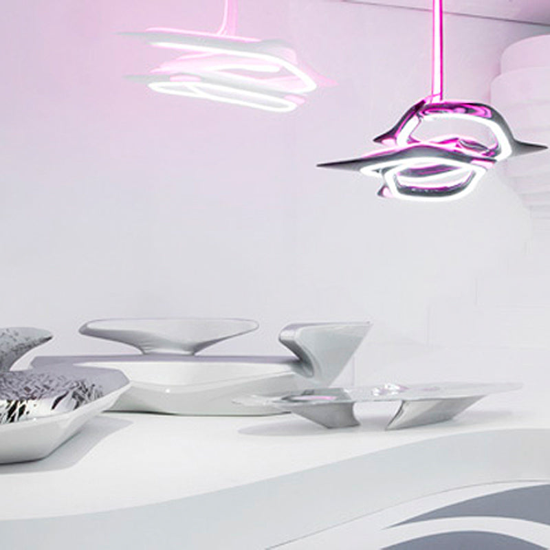 The Vortexx Chandelier by Zaha Hadid on the Pomegranate Living Blog