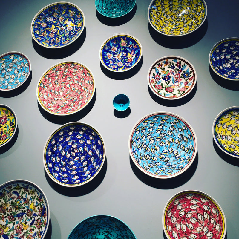 Wall Display of Traditional Iranian Plates by Zeeen at Maison & Objet