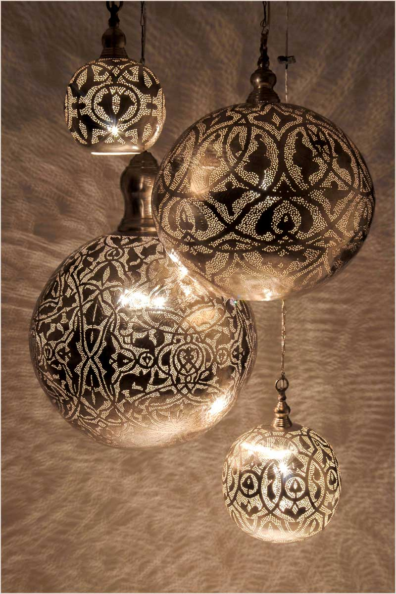 Zenza Ball Filigrain Cluster of Lamps