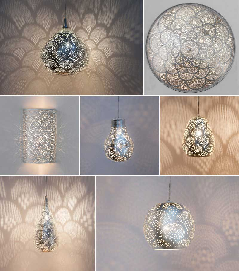 Zenza lamps with fan pattern