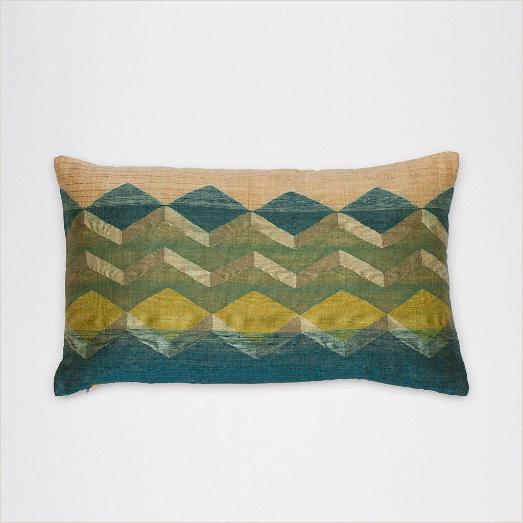 Annaloom Meraki Emerald 50cm x 30cm Cushion - Pomegranate Living
