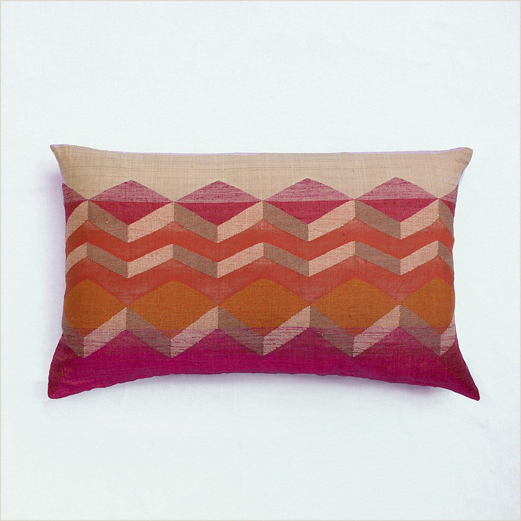 Annaloom Meraki Magenta 50cm x 30cm Cushion - Pomegranate Living