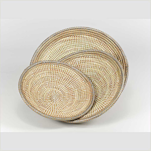 Artisanne Bread Basket with Silver Trim - Pomegranate Living