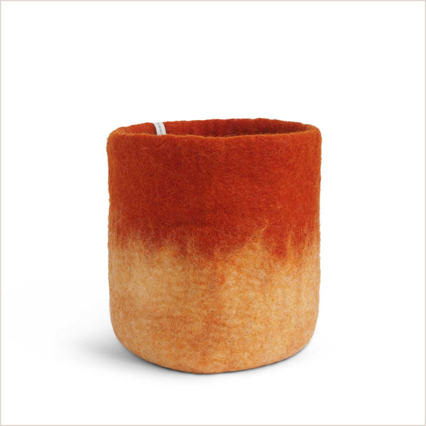 Aveva Design Large Ombré Orange Plant Pot - Pomegranate Living