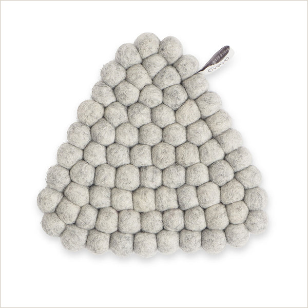 Aveva Design Triangle Trivet in Pale Grey - Pomegranate Living